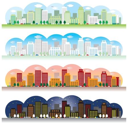 городской пейзаж: Пейзаж города Иллюстрация