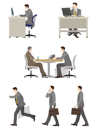 Businessman   Work Stock Vector - 19879496