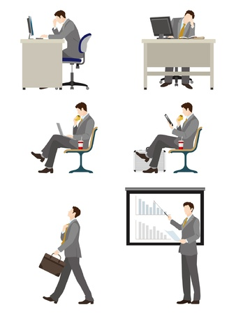 Businessman   Work Vector