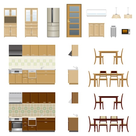 Kitchen Furniture Stock Vector - 20417307