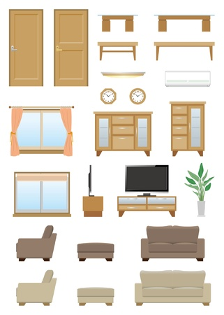 Living room furniture Stock Vector - 20417299