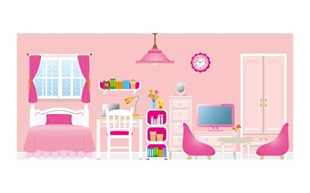 toy chest: Girls room_Type2 Illustration