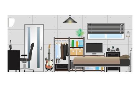 メンズ room_Type2  イラスト・ベクター素材