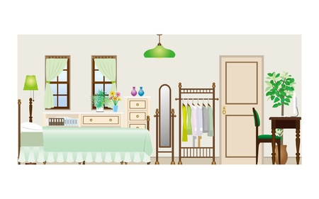 Woman room_Type1 Vector