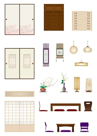 housing style: Japanese-style room   Furniture