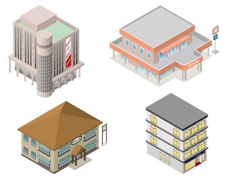 建物ショップ ビジネス  イラスト・ベクター素材