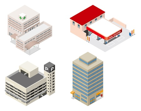 business buildings: Building   Business  Illustration