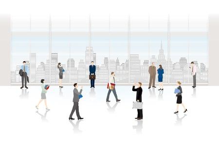 oficina: Las personas que trabajan en una oficina Vectores