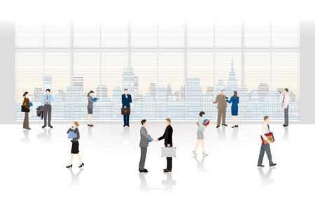 Die Menschen, die in einem Büro arbeiten Standard-Bild - 22009539