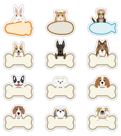 sheepdog: Dog   Pet_Nameplate Illustration