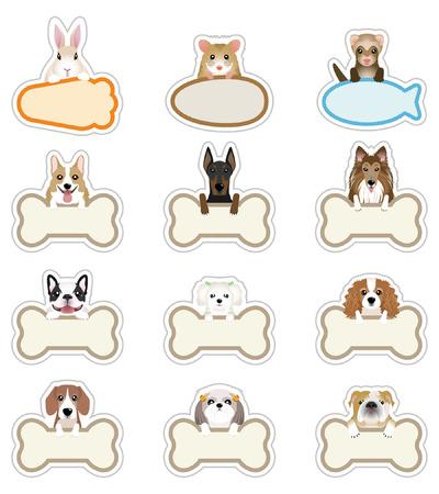 Hond Pet_Nameplate Vector Illustratie