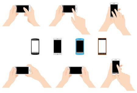 El uso del teléfono móvil Foto de archivo - 23068865