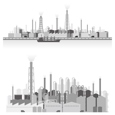 Paysage de l'usine Banque d'images - 24155339