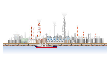Landscape of factory Vector