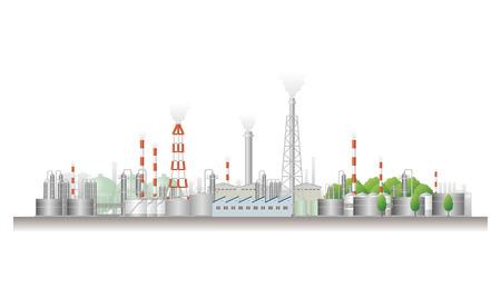 Landschaft der Fabrik Standard-Bild - 24965100
