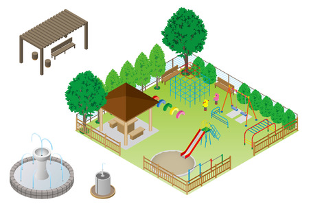 jungle gym: Playground Park Illustration