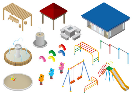 children playground: Park elements