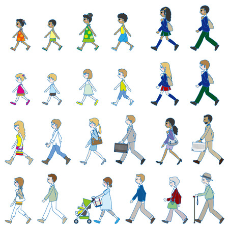those: Those who are walking