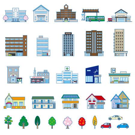Verschiedene Gebäude Standard-Bild - 26312925