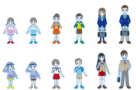 the whole body: Various person   Whole body style
