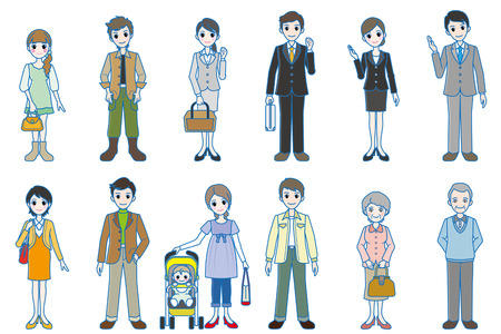 Various person   Whole body style Vector