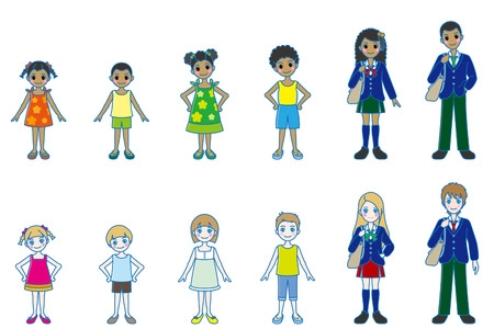 school uniform: Various person   Whole body style