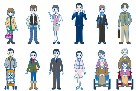 Various person   Whole body style