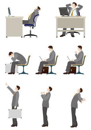 ビジネスマンの仕事  イラスト・ベクター素材