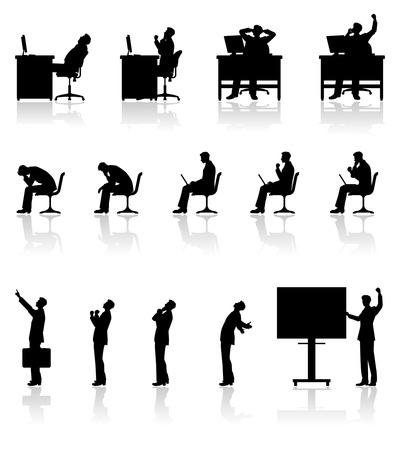 Geschäftsmann Silhouette Arbeits Standard-Bild - 27563763