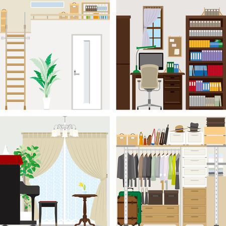western style room: Illustration of room