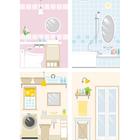 washroom: Illustration of room