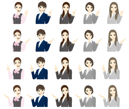 Businesswoman   Expression  Vector