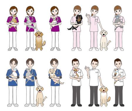 Veterinarian   Doctor   Nurse 向量圖像