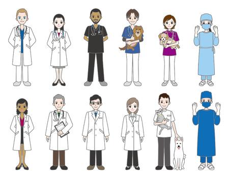 Doctor  and veterinarian Vector