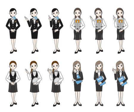 cabin attendant: Businesswomen    Illustration