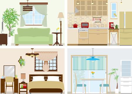 Illustration of room Vector