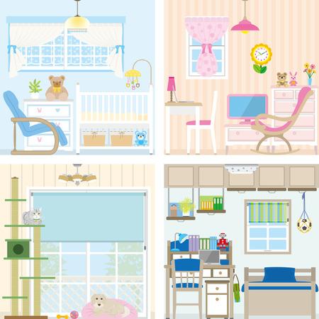 child bedroom: Ilustraci�n de habitaciones