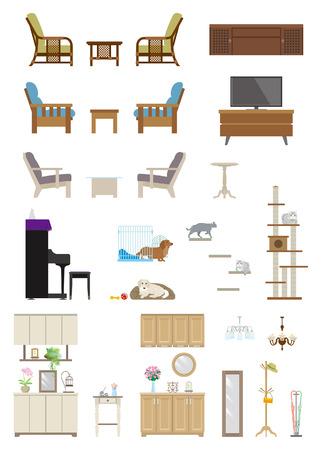 Furniture   Living room Illustration