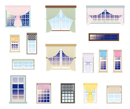 roll curtains: Furniture   Window Illustration