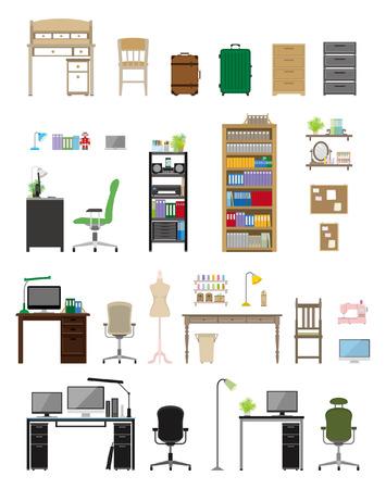 Möbel Arbeitszimmer Standard-Bild - 30931342