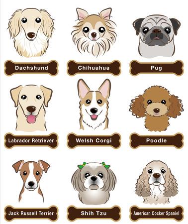 Perro / Placa Ilustración de vector