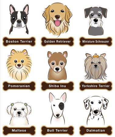 Собака заводская табличка Иллюстрация