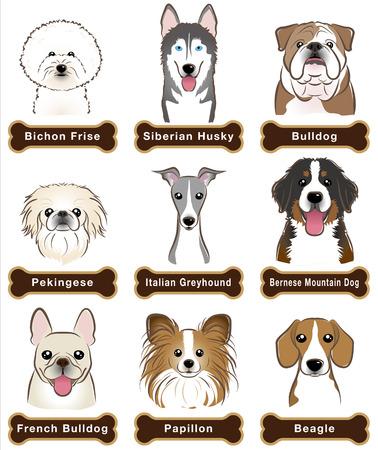 Dog  Nameplate Vector