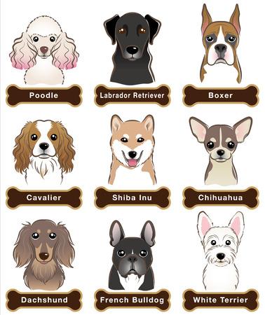 Hond / Naambord Vector Illustratie