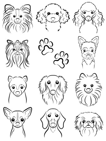 Dog / Line drawing 일러스트