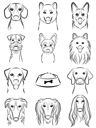 Dog / Line drawing Vettoriali