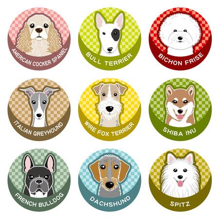 Dog / Nameplate Vector Illustration