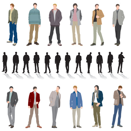 mode: Männlich Fashion Illustration