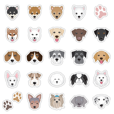 beagle terrier: Illustrations of dog face Illustration