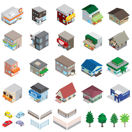 Various building / Solid figure